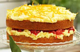 Sophie Dahl's Raspberry and Orange Victoria Sponge
